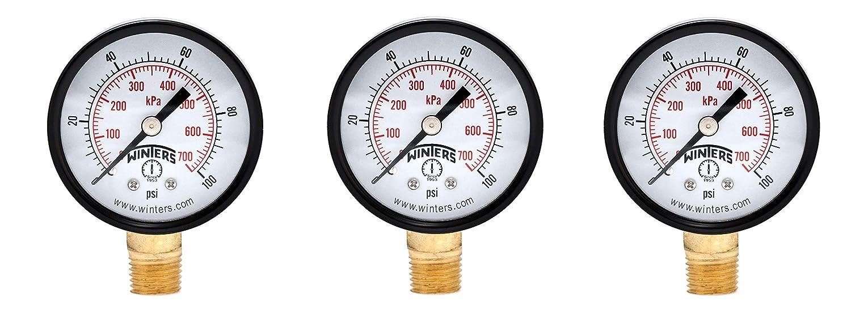 Amazon.com: Winters PEM Series - Medidor de presión de acero ...
