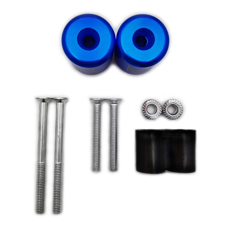 AfterMokit Handlebar Sliders Bar End Weights with Rubber Bushings for Suzuki GSXR 600 750 1000 1100 Hayabusa Katana SV650S SV1000S TL1000S Bandit 1200 Blue