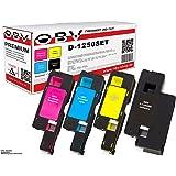 OBV PREMIUM 4x kompatibler Toner für Dell 1250 / 1250C / 1350 / 1350CNW / 1355 / 1355CN / 1355CNW je 1x schwarz, cyan, magenta, gelb