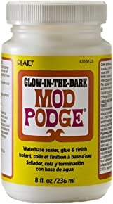 Mod Podge Waterbase Sealer, Glue and Finish (8-Ounce), CS15128 Glow in The Dark