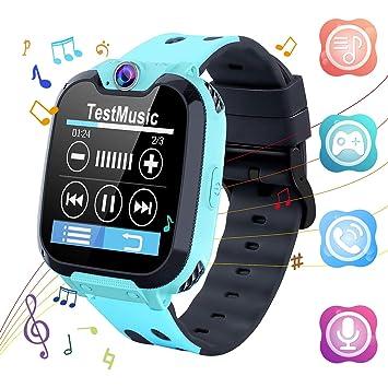 Reloj Inteligente para Niños Relojes Inteligentes Teléfono Reproductor de Música con Tarjeta SD Juegos Cámara de Llamada Grabadora de Alarma ...
