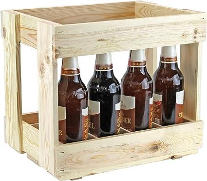 Wooden Beer Crate, Bottle Carrier, Men Handbag – Drinks Basket – Beer Box –  Box: Amazon.de: Küche & Haushalt