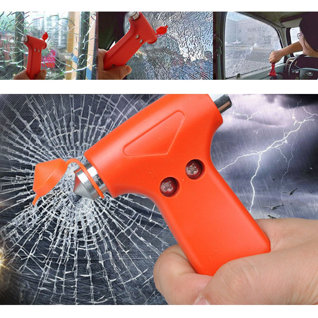 uxcell Plastic Handle Car Auto Safety Emergency Break Hammer 133mm Long 2pcs by uxcell (Image #6)