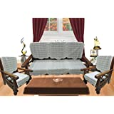 Royalina White 5 Seater Net Sofa Cover Set -10 Pieces