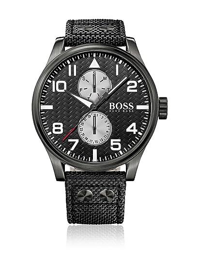 Hugo Boss 1513086 - Reloj con Correa de Acero para Hombre, Color Negro/Gris