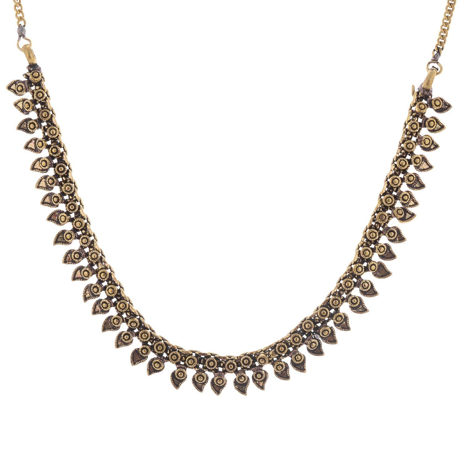 The Trendy Trendz India Oxidized Golden Necklace Set for Women and Girls