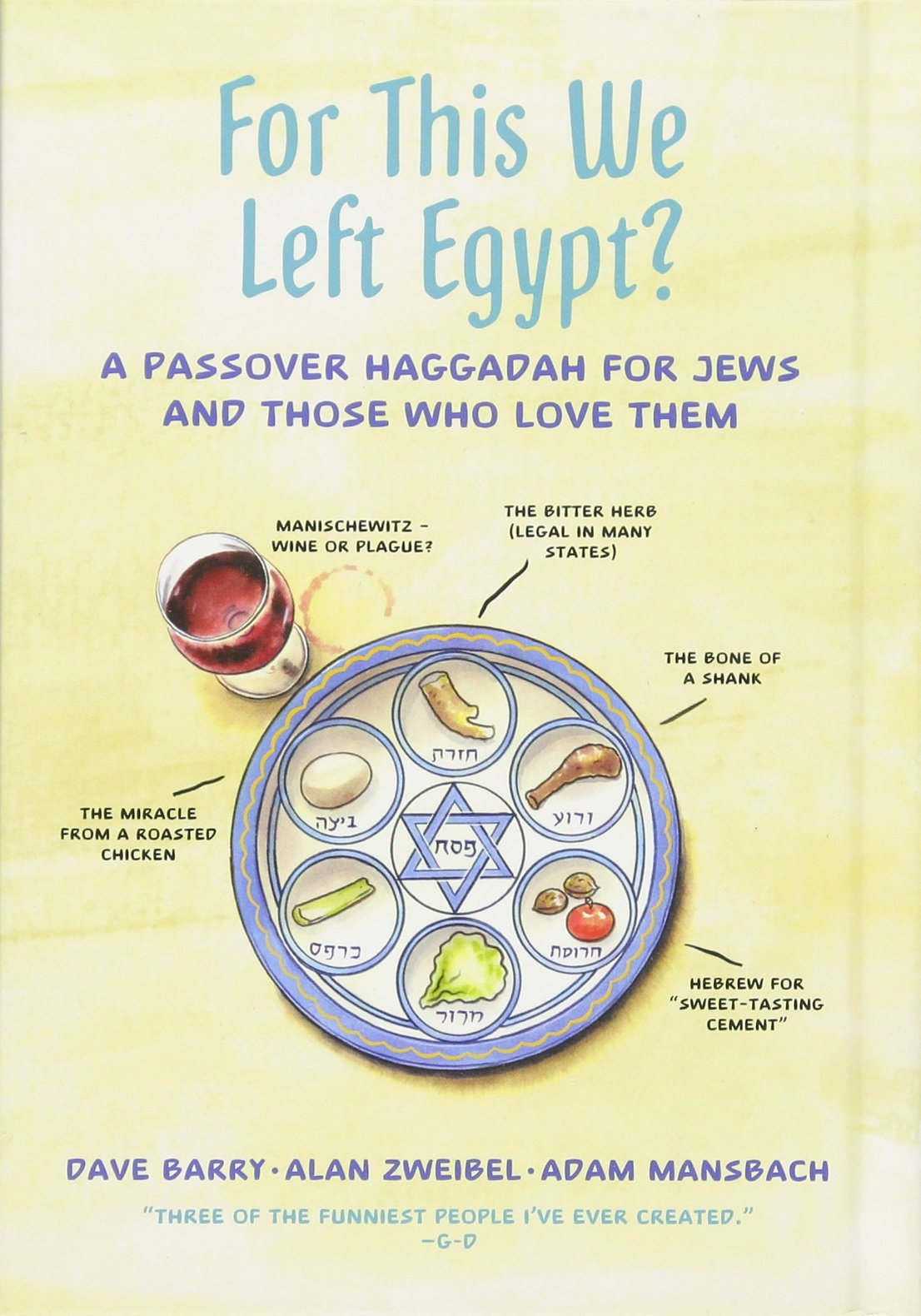 A Passover Haggadah for Jews and Those Who Love Them: Dave Barry, Alan  Zweibel, Adam Mansbach: 9781250110213: Books - Amazon.ca