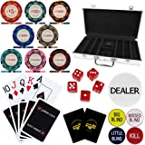 Crown Casino Royale 300 Piece, 14g Poker Chip Set in Aluminium Poker Chip Case