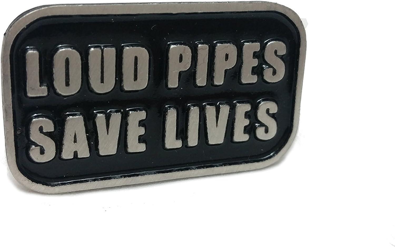 Daywalker-Bikestuff Loud Pipes Save Lives /& # x2022; nero glossy untergrund /& # x2022; scrittura leggero Sbalzato /& # x2022; Chopper