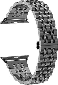 NotoCity Correa Compatible con Apple Watch 42 mm/44mm Acero Inoxidable Ajustable Correa de Repuesto para Serie 1/2/3/4: Amazon.es: Electrónica