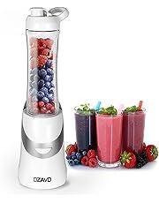 OZAVO Blender | Mini Blender Mixeur des Fruits | Mixer | 350 V | Blender à Smoothie et à Milk-shake | Couteaux en métal 2 fois | 600ml | pour Sport et Voyage | Avec Bouteille et Couvercle Sans BPA