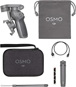 DJI CP.OS.00000040.01 Osmo Mobile 3 Combo- 3-Axis Smartphone Gimbal Handheld Stabilizer Vlog Youtuber Live Video for iPhone Android Samsung Galaxy iPhone 11/11pro/11pro/ Xs/Xs Max/Xr/X and more, Black
