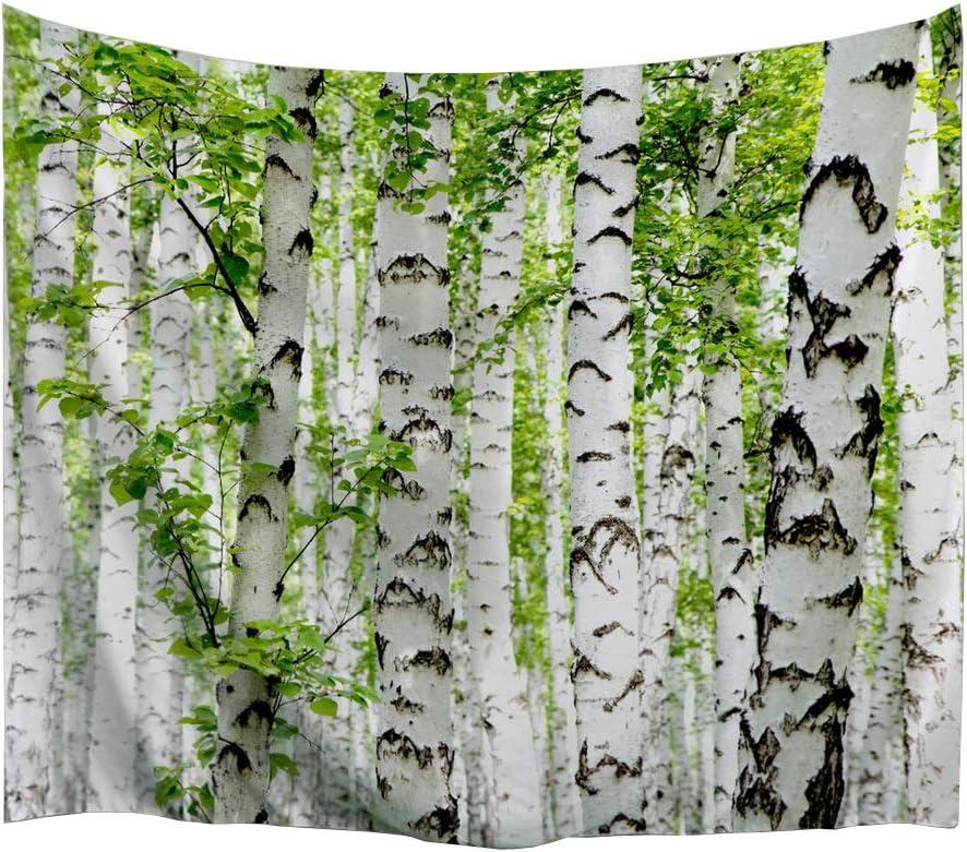 izielad Fleur Rouge Prairie Arbre Champ Environnement Rafra/îchissant Pluvieux Nuage Tapisserie Mur Tapisserie Murale Tapisseries 153x102cm 60x40