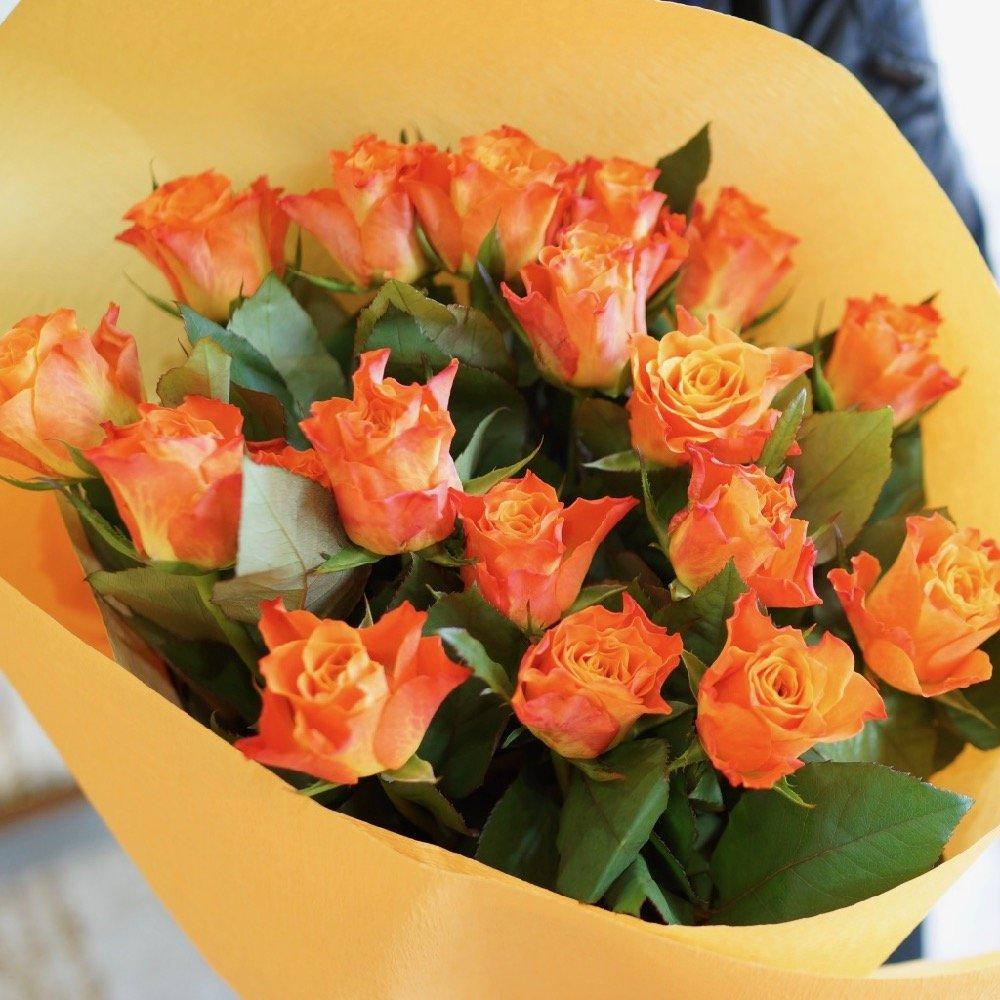 フラワーショップカレラ バラ60本の花束 (オレンジ) B076VDFP2N