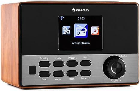 AUNA Connect 90 WD Radio Internet, Lecteur réseau, Fonctions réveil, Sleep Timer, Ecran Couleur 3,2