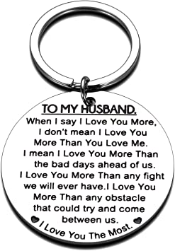 Birthday Keychain Ring Jewelry Gift for Valentine day Wedding