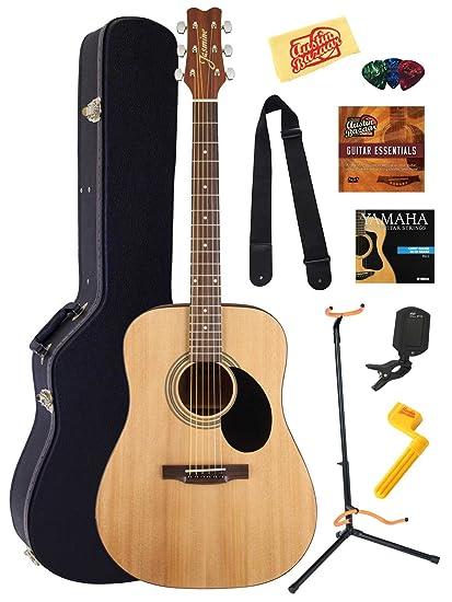 896d99c972 Jasmine S35 Dreadnought Acoustic Guitar Bundle with Gearlux Hardshell Case,  Austin Bazaar Instructional DVD,