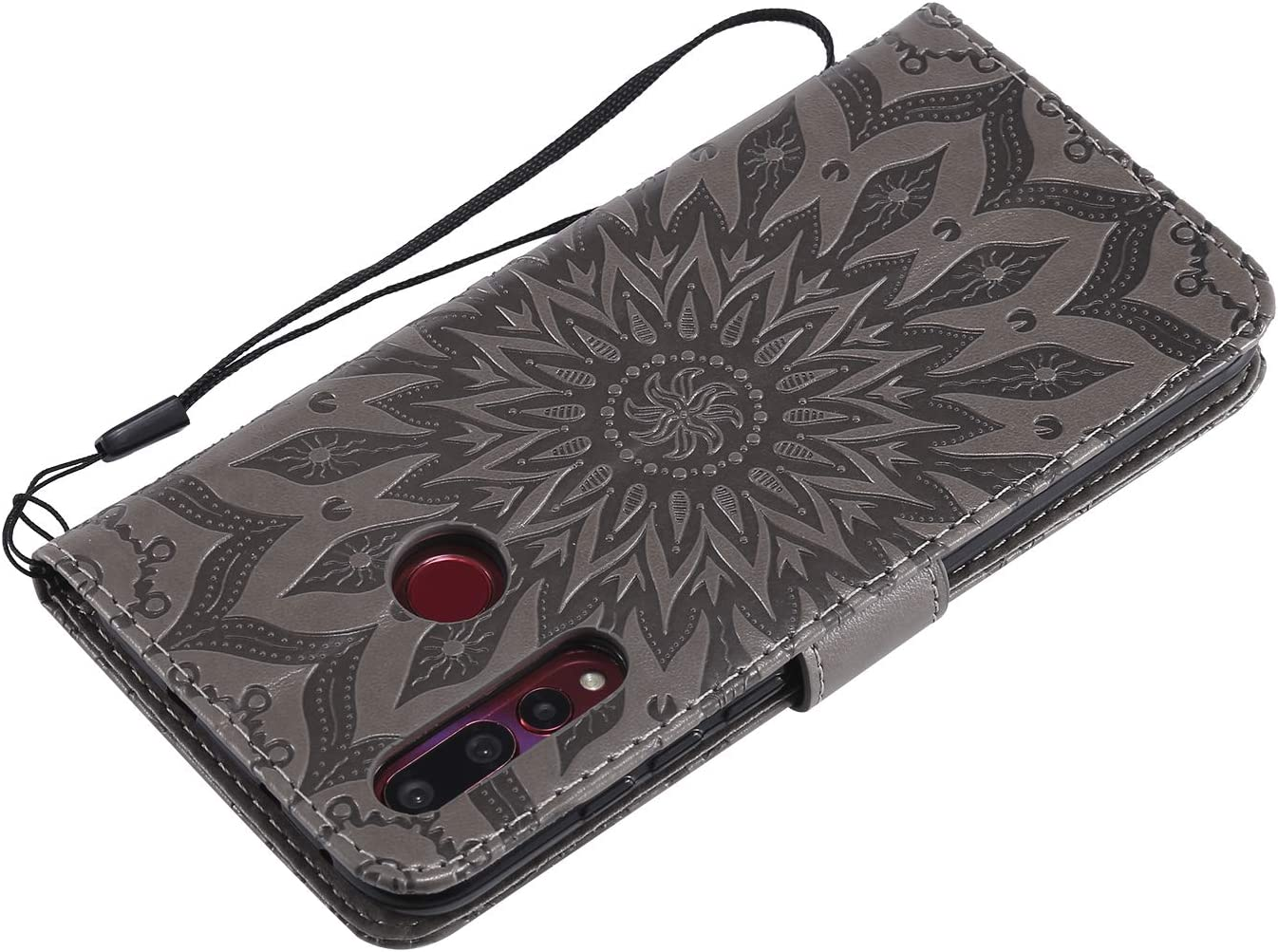 Lomogo Leather Wallet Case with Kickstand Card Holder Shockproof Flip Case Cover for Huawei nova 4 LOKTU020061 Green Huawei nova4 Case
