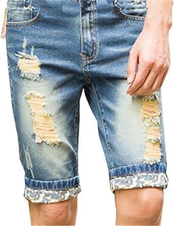 Amazon Com Nueva Verano Hombres Plus Short Jeans De Los Hombres Moda Shorts Hombres Big Ropa De Verano Venta Short Pantalones 28 Clothing