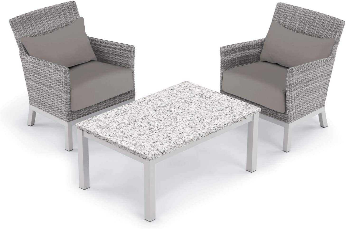 Oxford Garden 5542 Argento & Travira Furniture Set, Powder Coat Flint