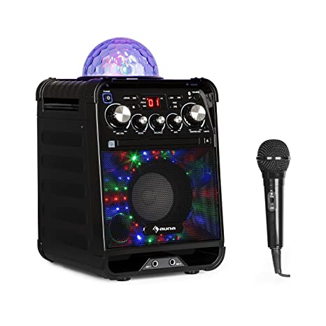 auna Rockstar • Karaoke • Equipo de Sonido pequeño • Equipo de Karaoke • Bola de