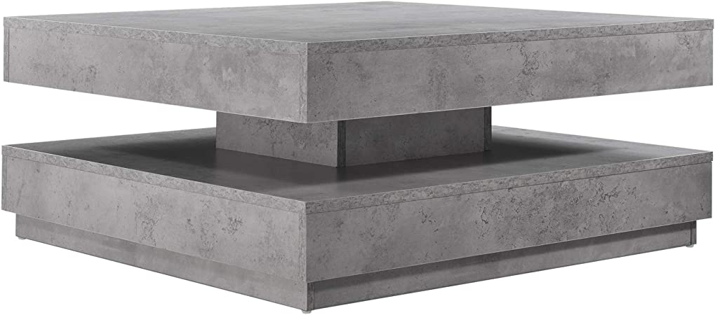 Tables Capsull Design Table Basse Oslo Bois Beton Gris Tables