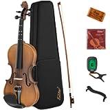 Eastar EVA-3 1/2 Violin Set Half Size Fiddle Matte for Kids Beginners Students with Hard Case, Rosin, Shoulder Rest, Bow…