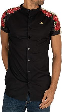 Sik Silk de los Hombres Camisa de Manga Corta con Panel Trasero raglán, Negro: Amazon.es: Ropa y accesorios