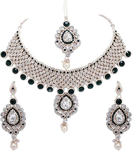 Amazon Com Crown Jewel Indian Bollywood Gold Plated Fashion