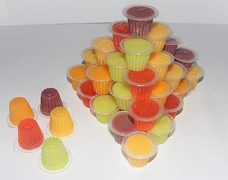 40 Potes de frutas de gelatina de frutas para reptiles de alimentos de proteína de jalea para lagartos, gecko, insectos, pájaros, loros
