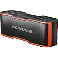 AOMAIS Sport II Mini Portable Bluetooth Speakers, HD Sound and Enhanced Bass, Wireless Stereo Pairing, 15 Hours Playtime, IPX5 Water-Resistant Speakers for Travel, Beach, Shower (Orange)