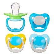 Amazon Brand - Mama Bear Baby Pacifier, Stage 2 (6-12M), BPA Free, Assorted Colors (Pack of 4)