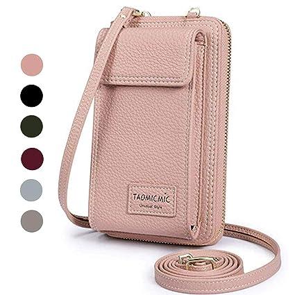 Amazon.com: Monedero de piel para mujer con bolsillos para ...