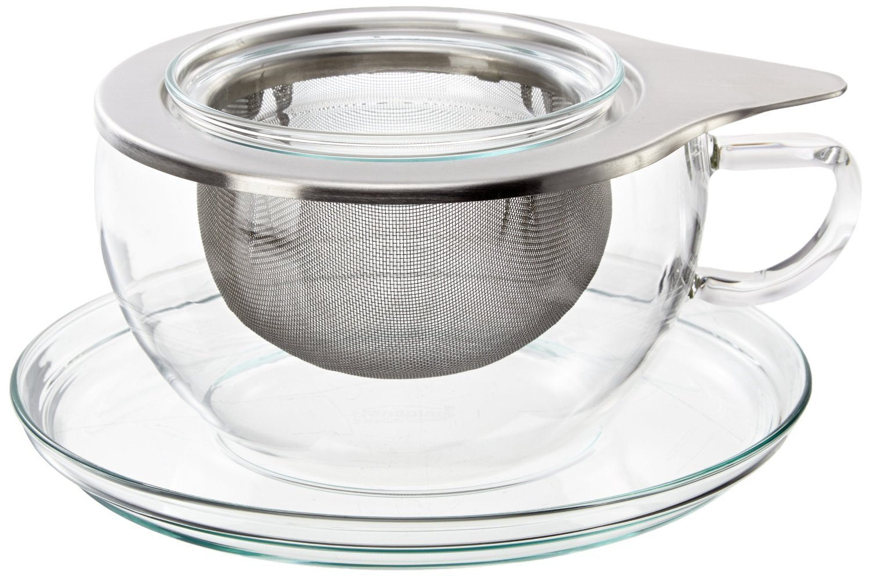 Teetasse Mit Sieb trendglas jena tea teetasse mit edelstahlfilter 0 4 liter