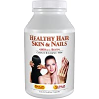 Andrew Lessman Healthy Hair, Skin & Nails 240 Capsules – 4000 mcg High Bioactivity Biotin, MSM, Full B-Complex Promotes Beautiful Hair, Skin and Strong Nails - No Additives. Easy to Swallow Capsules