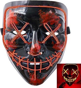 CompraFun Halloween LED Maschere Maschere Teschio Verde 3 modalit/à Mask Paura Spaventoso Costume Terribile per Halloween Cosplay Carnevale Feste