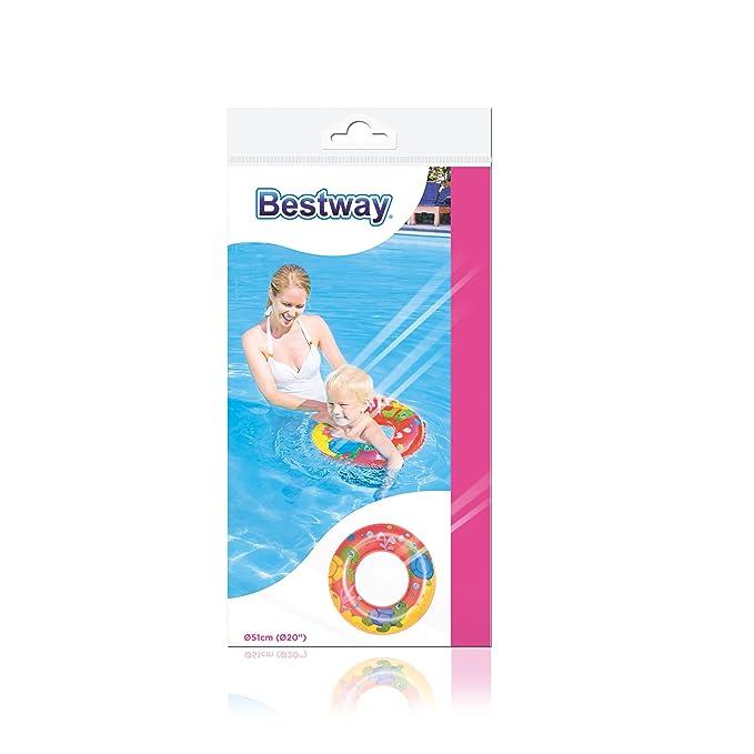 Bestway-25324 Flotador Rosco Pequeño Color Azul, Naranja, Amarillo 51 cm 8321685: Amazon.es: Juguetes y juegos