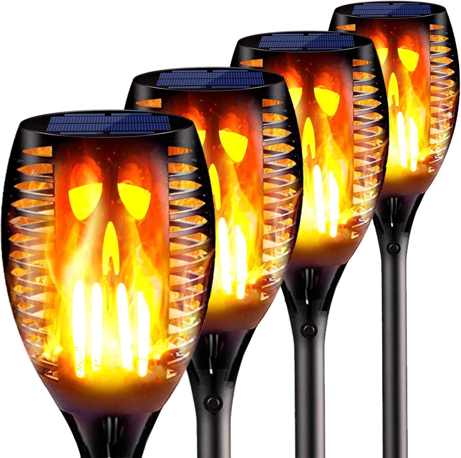 StillCool 2 Pack Solar Flickering Flame Torch Lights Waterproof Decoration Lighting for Garden Pathway Driveway Patio Outdoor Solar Garden Lights Dusk to Dawn Auto On//Off