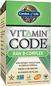 Garden Of Life, Raw Vitamin Code B Complex, 60 Count