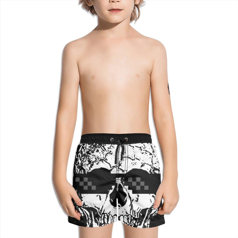 Trum Namii Boy's Quick Dry Swim Trunks Pineapple Skull with Cool Sunglasses Shorts