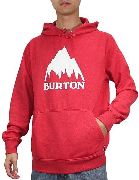 Burton - Sudadera con capucha - para hombre rojo rosso large: Amazon.es: Ropa y accesorios
