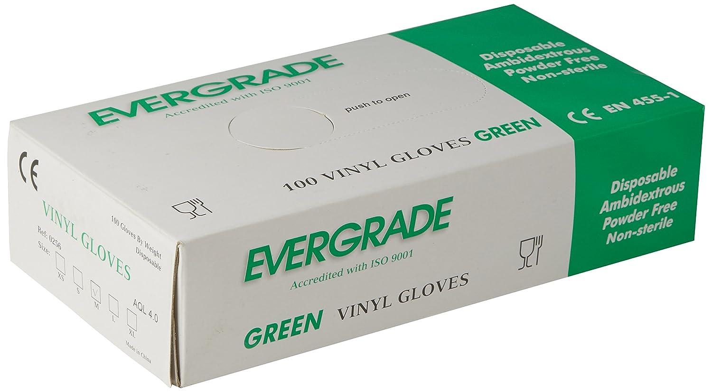 Vinilo verde sin polvo Evergrade 0256 tama/ño mediano caja 100