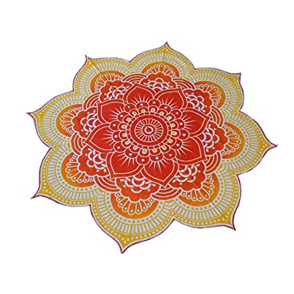 Amazon bestoyard beach towel mandala tapestry lotus flower bestoyard beach towel mandala tapestry lotus flower shape gypsy hanging yoga mat mightylinksfo