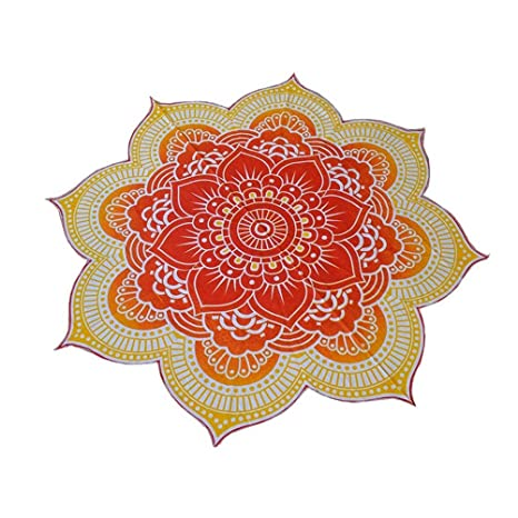 Fenical toalla de playa mandala tapiz de flor de loto forma gitana colgar Yoga Mat