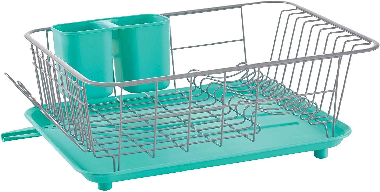 Farberware Compact Dish Rack, One Size, Aqua