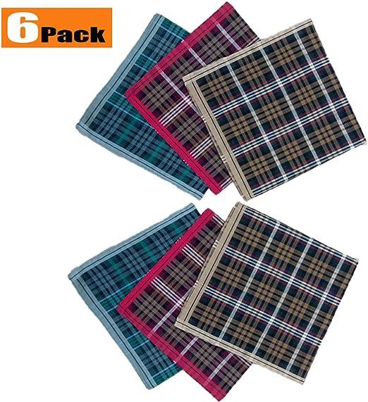 MAXBEN - Pañuelos para Hombre (6 Unidades, 100% algodón Puro, 3 ...