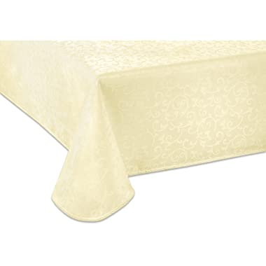 Lenox Opal Innocence 60 x84  Oblong Tablecloth, Ivory