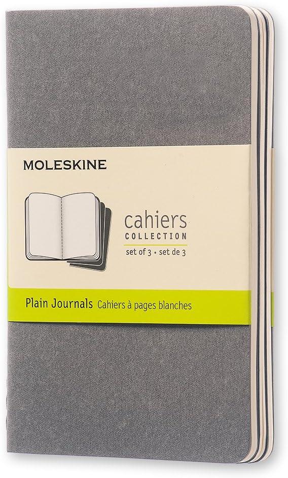 Moleskine 14113 - Libreta (64 hojas, 9 x 14 cm), color gris, set de 3: Moleskine: Amazon.es: Oficina y papelería