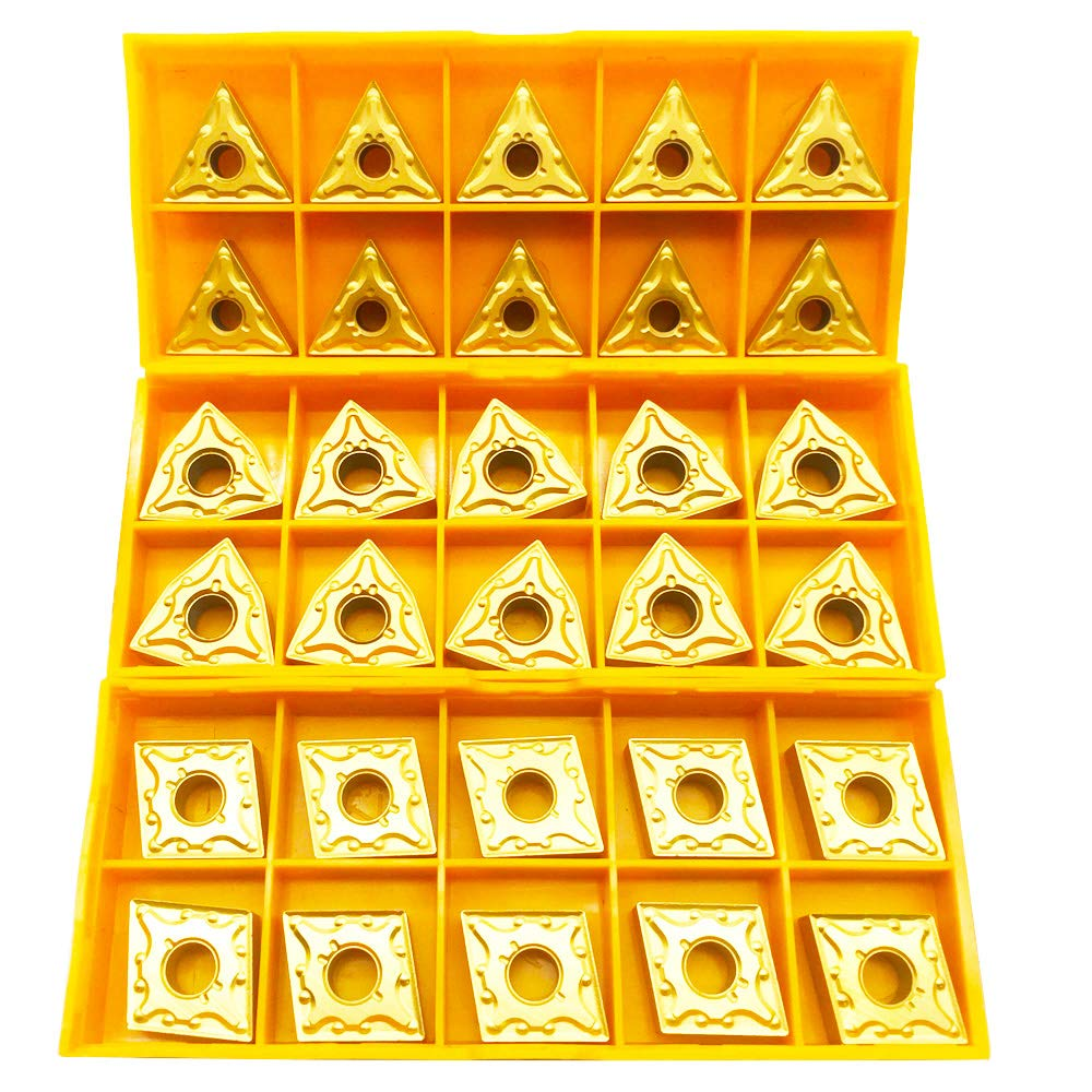 CNC Lathe Excircle Indexable Carbide Inserts 30pcs wnmg431,cnmg331,cnmg431 With 10pcs MWLNR1616H08 + MTJNR1616H16+ MCJNR1616H12 Indexable Tool.