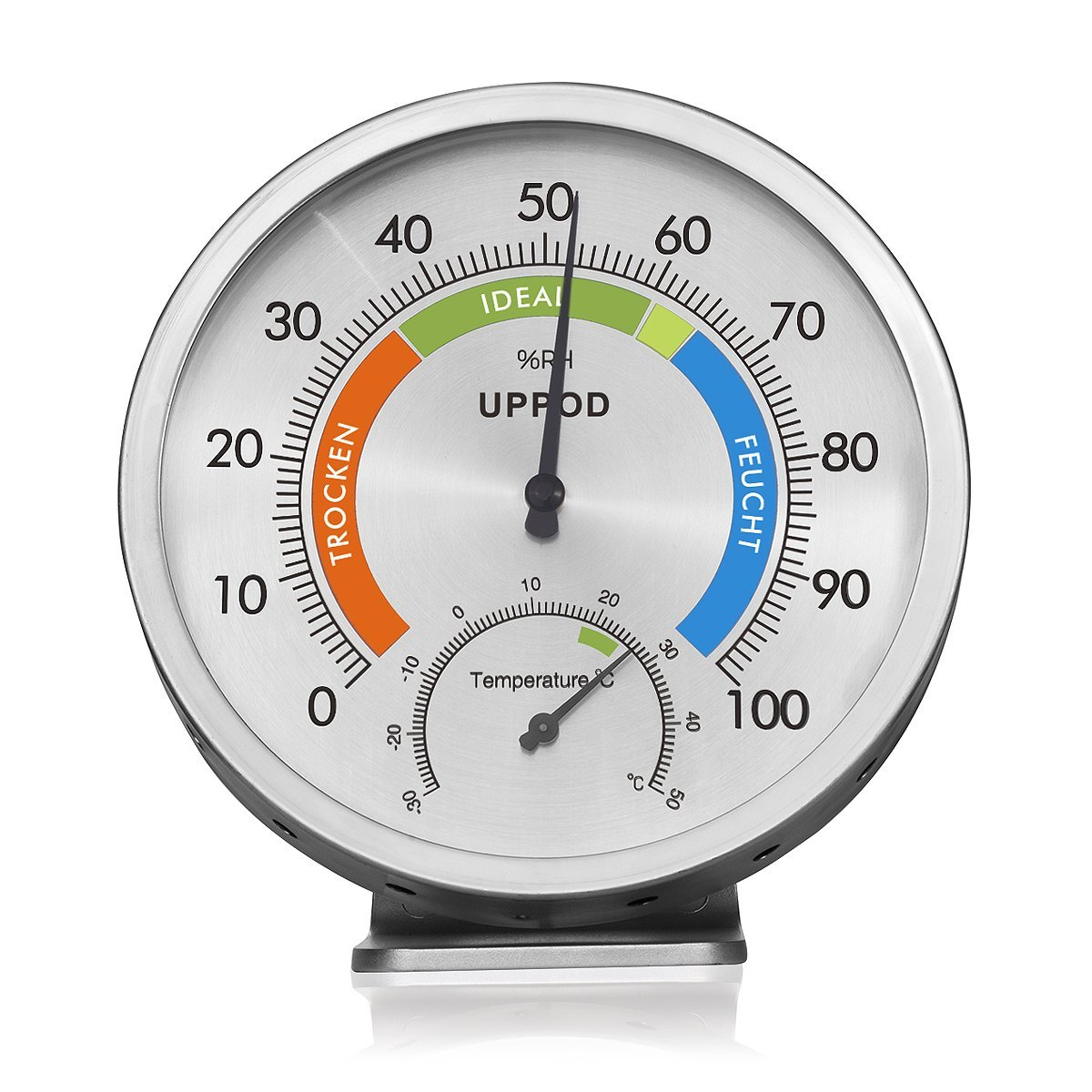LittleGood 5'' Indoor Outdoor Hygrometer/Thermometer, Humidity Gauge Indicator Temperature Humidity Monitor, Analog Hygrometer Humidor for Patio,Wall Decorative,Room,Home,Office,Greenhouse,Reptiles